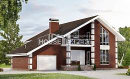 180-001-L Two Story House Plans with mansard roof with garage in back, beautiful House Plans