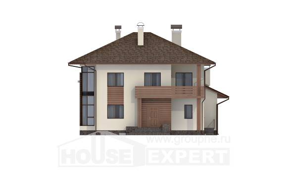 300-001-R Two Story House Plans, luxury Building Plan