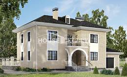 180-006-R Two Story House Plans with garage under, beautiful Timber Frame Houses Plans
