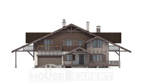 320-001-R Two Story House Plans and mansard with garage in back, classic Plan Online