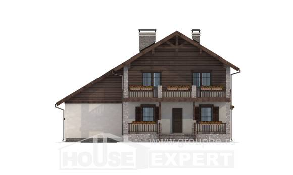 200-003-R Two Story House Plans and garage, best house Architects House