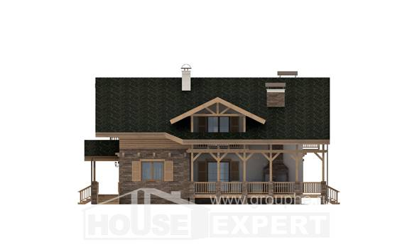 250-003-L Two Story House Plans with mansard roof, luxury Blueprints of House Plans