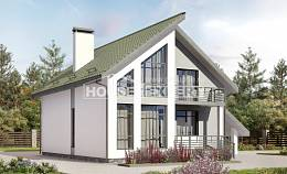 170-009-L Two Story House Plans and mansard with garage, modest Architects House