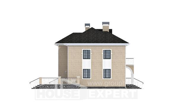 180-006-R Two Story House Plans with garage, beautiful House Building