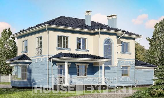 285-003-L Two Story House Plans with garage under, spacious House Plans