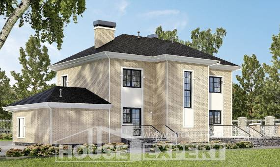 180-006-R Two Story House Plans with garage in back, cozy Architect Plans
