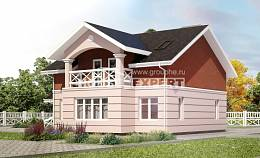 155-009-L Two Story House Plans and mansard, inexpensive Plans To Build