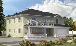 410-002-L Two Story House Plans with garage in back, classic Online Floor