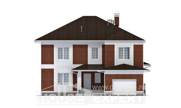 315-001-R Two Story House Plans with garage in front, beautiful Ranch