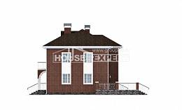 180-006-L Two Story House Plans with garage in front, spacious Woodhouses Plans