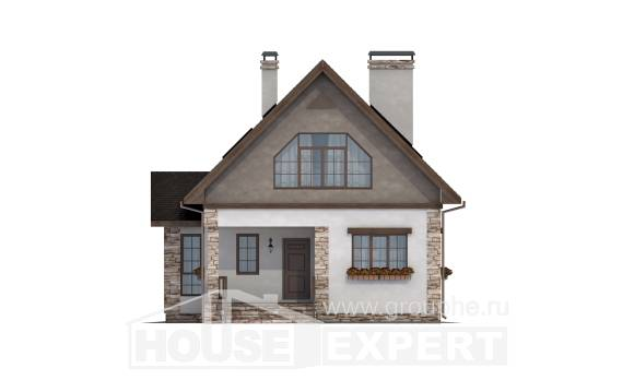 140-002-L Two Story House Plans and mansard, available Home Plans