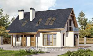 155-012-R Two Story House Plans with mansard, a simple House Plan