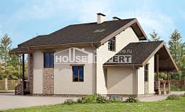 240-003-L Two Story House Plans with mansard roof, beautiful Ranch