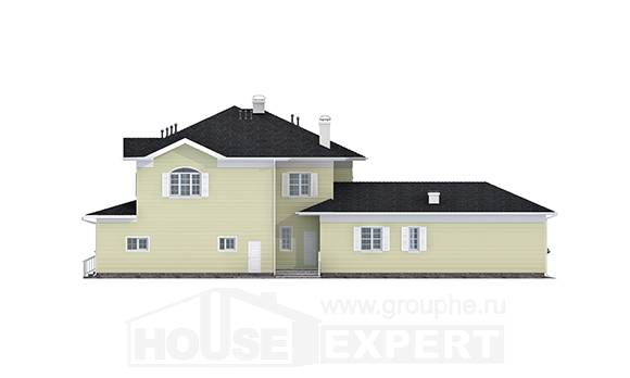410-002-L Two Story House Plans and garage, beautiful Tiny House Plans