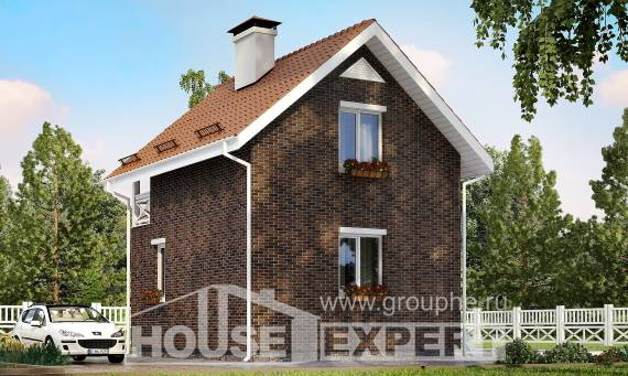 045-001-L Two Story House Plans with mansard, beautiful Architectural Plans