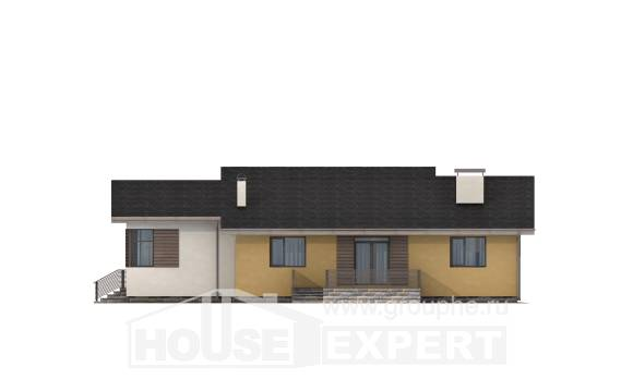 135-002-L One Story House Plans with garage in front, the budget Woodhouses Plans