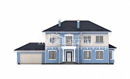 285-003-L Two Story House Plans with garage under, classic House Planes