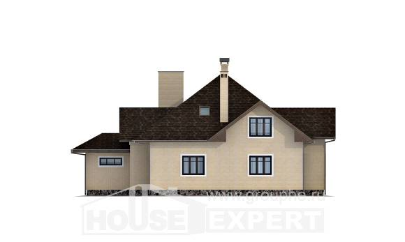 275-003-R Two Story House Plans and mansard with garage in front, modern Design House