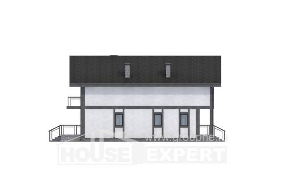 280-002-R Two Story House Plans and mansard, big Woodhouses Plans