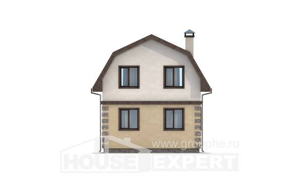 070-004-R Two Story House Plans with mansard, modern Models Plans