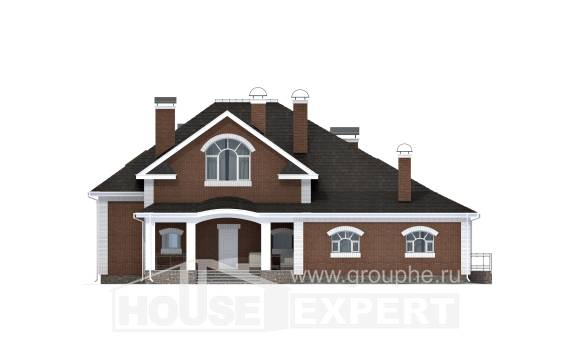 400-003-R Two Story House Plans with mansard roof, best house Building Plan