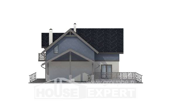 150-011-R Two Story House Plans and mansard and garage, economical Dream Plan