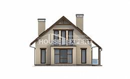 155-012-L Two Story House Plans with mansard, a simple Models Plans