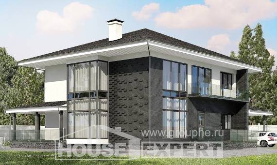 245-002-R Two Story House Plans and garage, best house Dream Plan