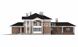 520-002-L Three Story House Plans with garage under, classic Dream Plan
