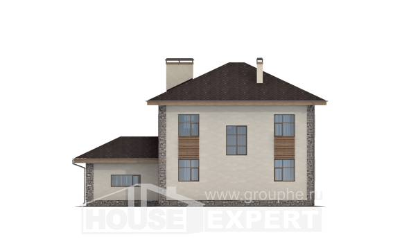 185-004-R Two Story House Plans with garage under, beautiful Tiny House Plans