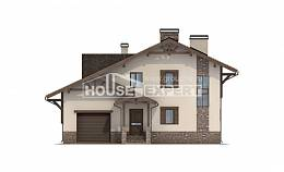 190-007-L Two Story House Plans with mansard and garage, a simple Ranch