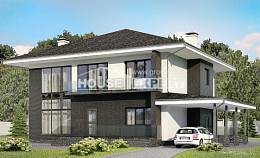 245-002-R Two Story House Plans with garage under, luxury Home House