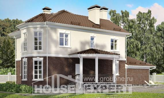 190-002-L Two Story House Plans with garage, beautiful Architects House