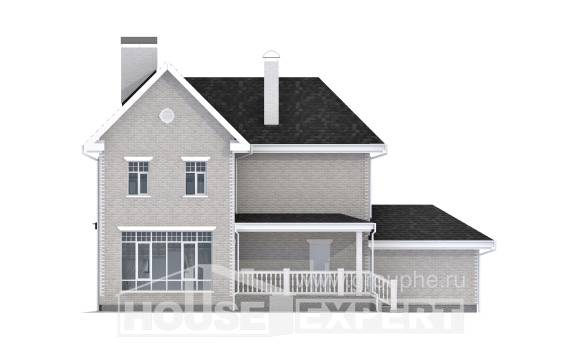190-001-L Two Story House Plans with garage, a simple House Building