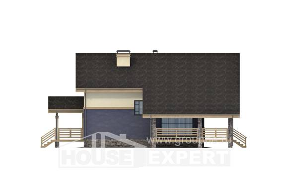 160-010-R Two Story House Plans with mansard roof, compact Plans To Build