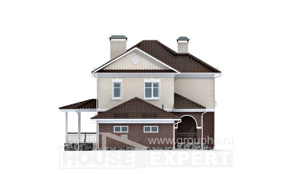 190-002-L Two Story House Plans with garage, cozy Ranch