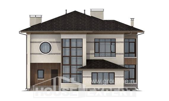 345-001-R Two Story House Plans, luxury Models Plans