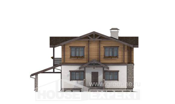 170-004-L Two Story House Plans and mansard and garage, best house Design Blueprints