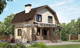 070-004-R Two Story House Plans with mansard, cozy Ranch