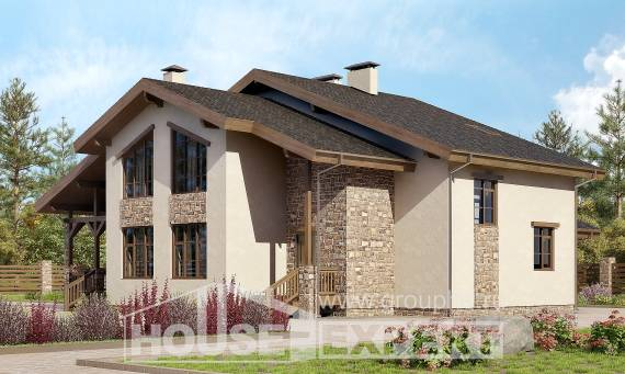 240-003-L Two Story House Plans with mansard roof, best house Online Floor