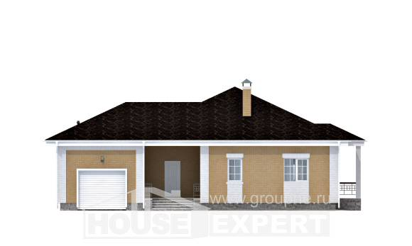 130-002-L One Story House Plans with garage in back, best house Blueprints