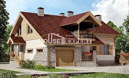 165-002-R Two Story House Plans with garage under, modern House Plans