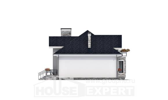 150-008-R Two Story House Plans with mansard roof, modern Home House