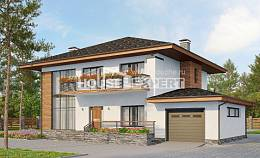 305-001-R Two Story House Plans with garage in back, spacious Construction Plans