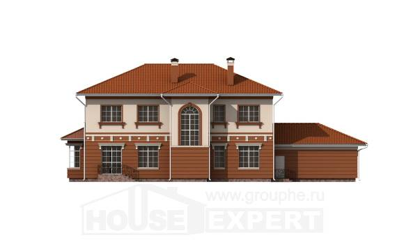 285-001-L Two Story House Plans with garage in back, modern Home Plans