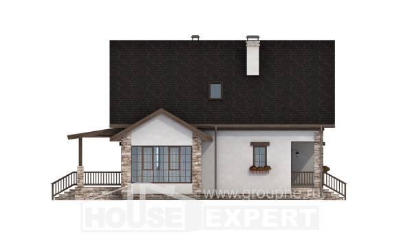 140-002-L Two Story House Plans with mansard, a simple Models Plans