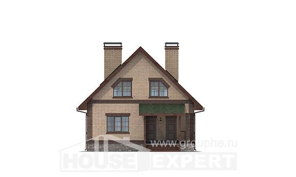 160-011-R Two Story House Plans with mansard, economical House Plans