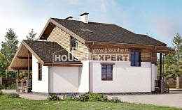 210-006-R Two Story House Plans with mansard roof, luxury Design Blueprints