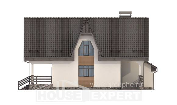 150-001-L Two Story House Plans with mansard roof and garage, economical Home Plans