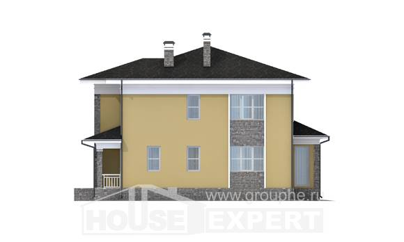 155-011-L Two Story House Plans, compact Ranch